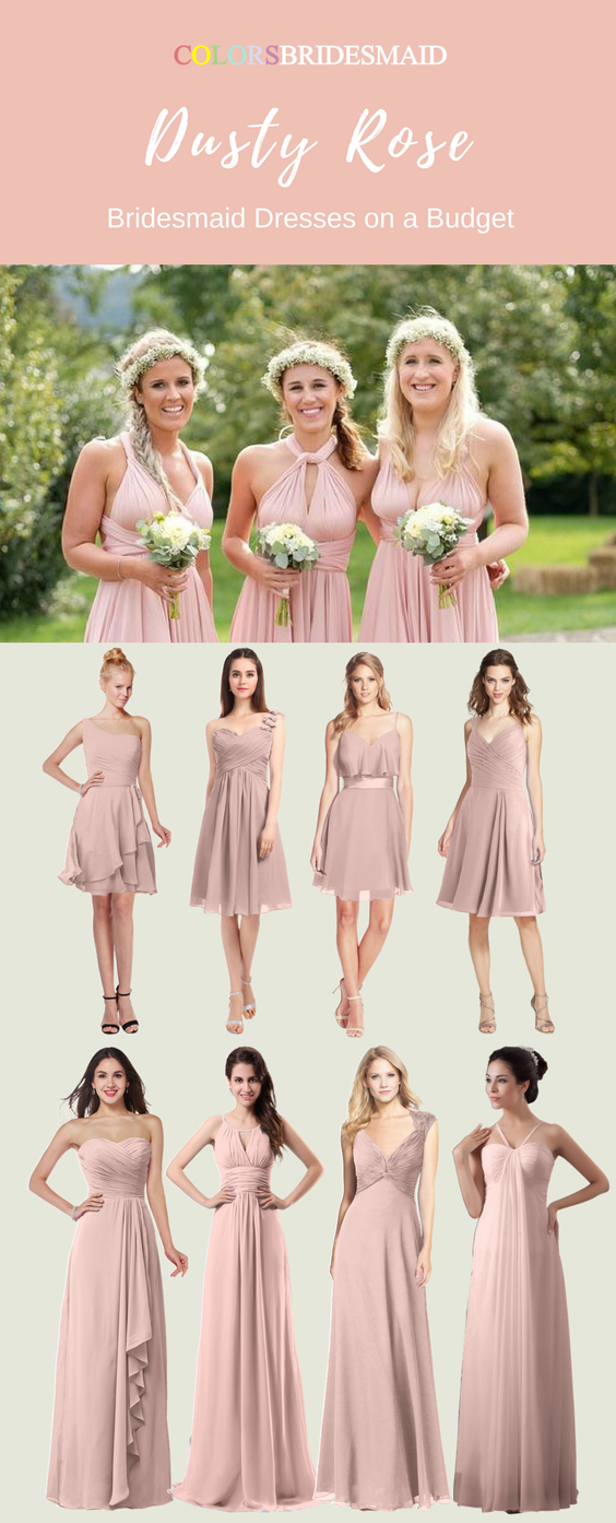 The Dusty Rose Bridesmaid Dresses Both In Knee Length And Floor Are Sold From 69 Mostly Under 100 These