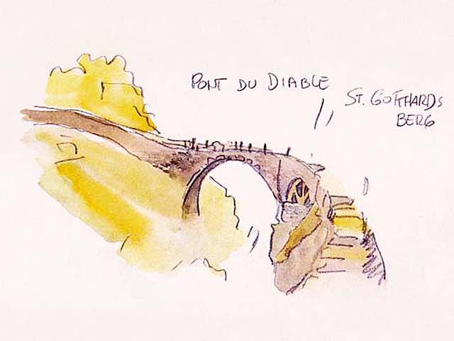 Hugo Pratt - Corto Maltese in the City of Uri (1988) - Devil Bridge