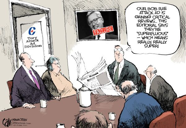 Cardow The Ottawa Citizen Canada Attack Ads Attack Ads Yay Or Nay Editorial Cartoon The Funny Funny