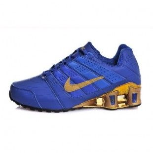 Nike Shox Blue And Gold