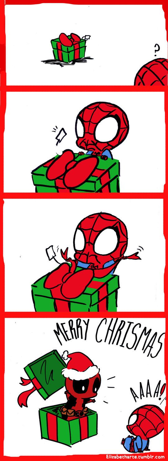 In the spirit of the upcoming holidays, I raise you spideypool.