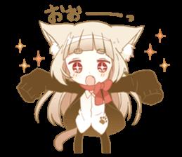 NEKOMIMI girl sticker - LINE Creators' Stickers | Anime