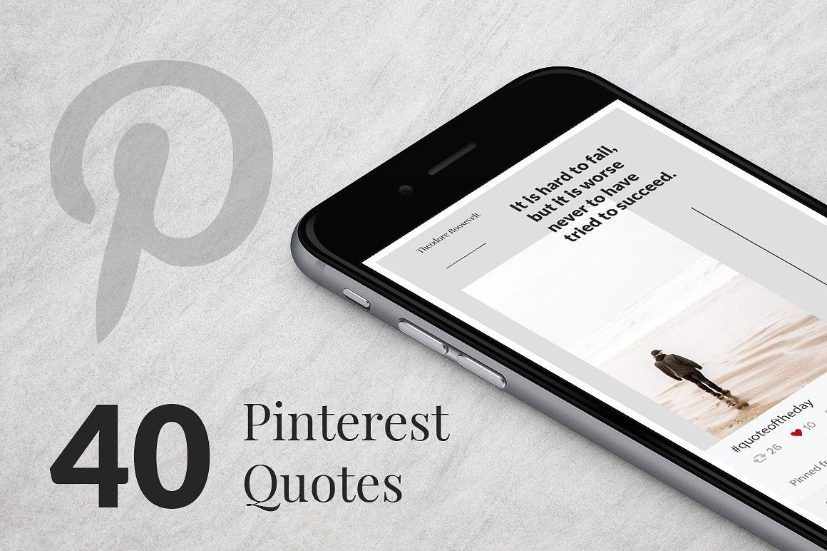 Quote Templates for Pinterest on Creative Market. Digital design ...