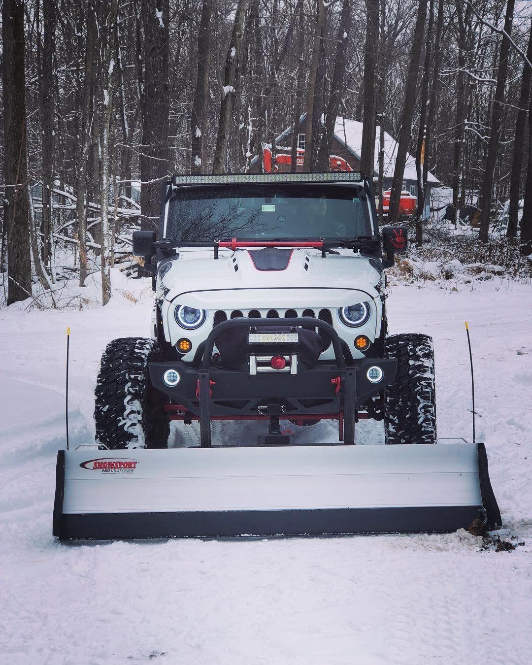 Snow Plows For Jeep Wranglers : plows, wranglers, Wrangler,, Badass, Jeep,