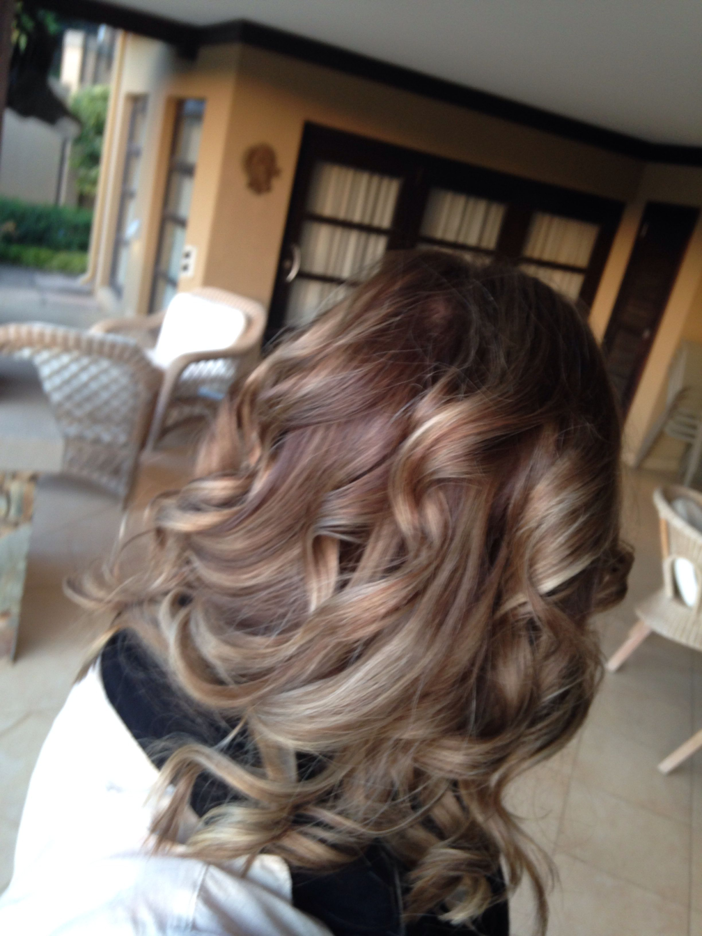 Light brown ombre with long layers thanks to karen from palladium