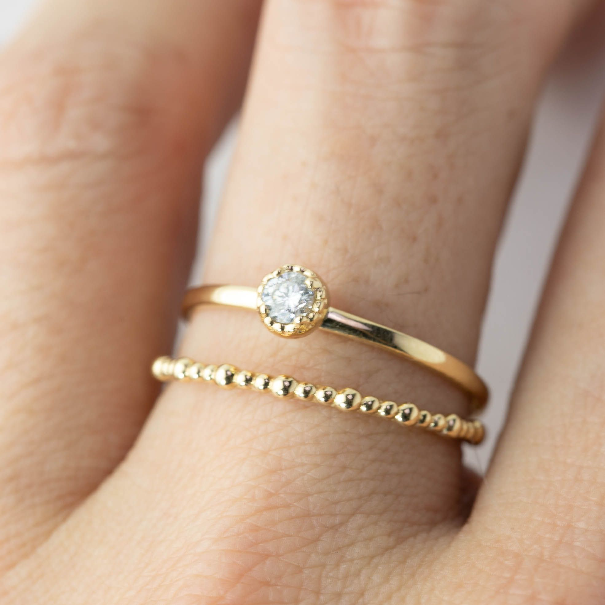 Dahlia Solitaire Ring 0 11ct Diamond Simple Diamond Ring