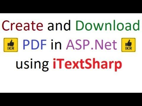 Create pdf file using iTextSharp in ASP Net Project