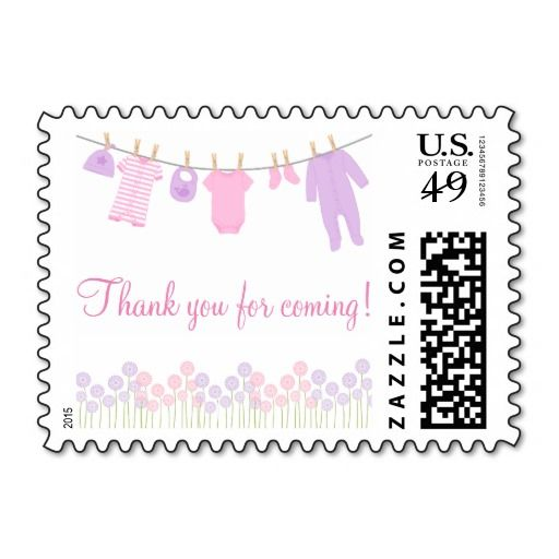 Thank You For Coming Baby Clothesline Baby Shower Postage