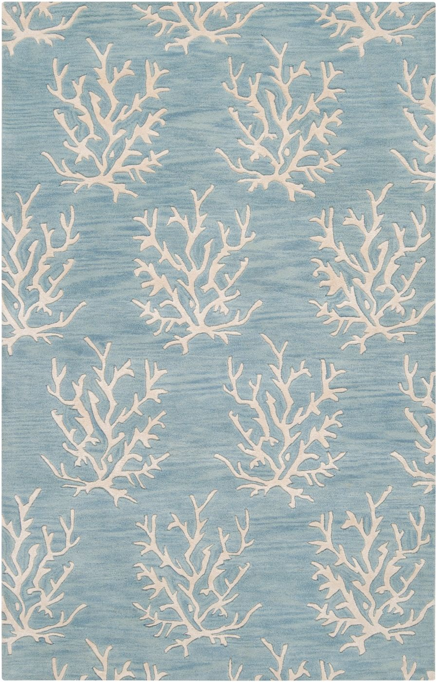 Escape Small C Area Rug White On Powder Blue Beach Decor Coastal Home Nautical Tropical Island Cottage Furnishings