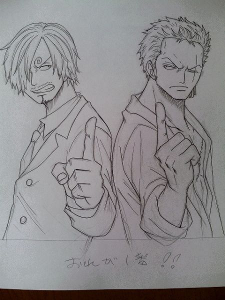 Roronoa Zoro And Sanji One Piece With Images One Piece Manga