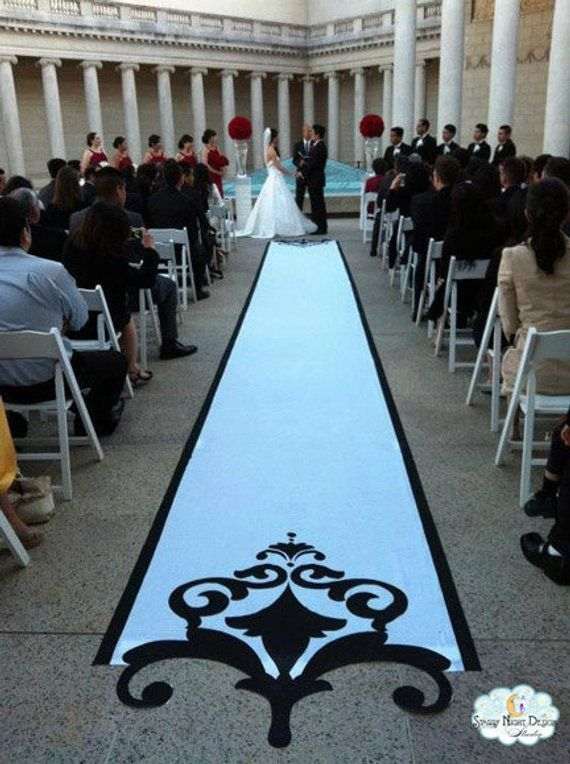 Wedding Aisle Runners | Aisle Runner Wedding Aisle Runner Custom Aisle Runner Black