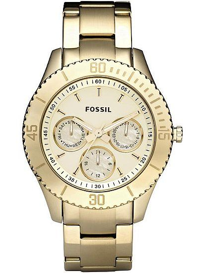Loving this light gold watch from Fossil.