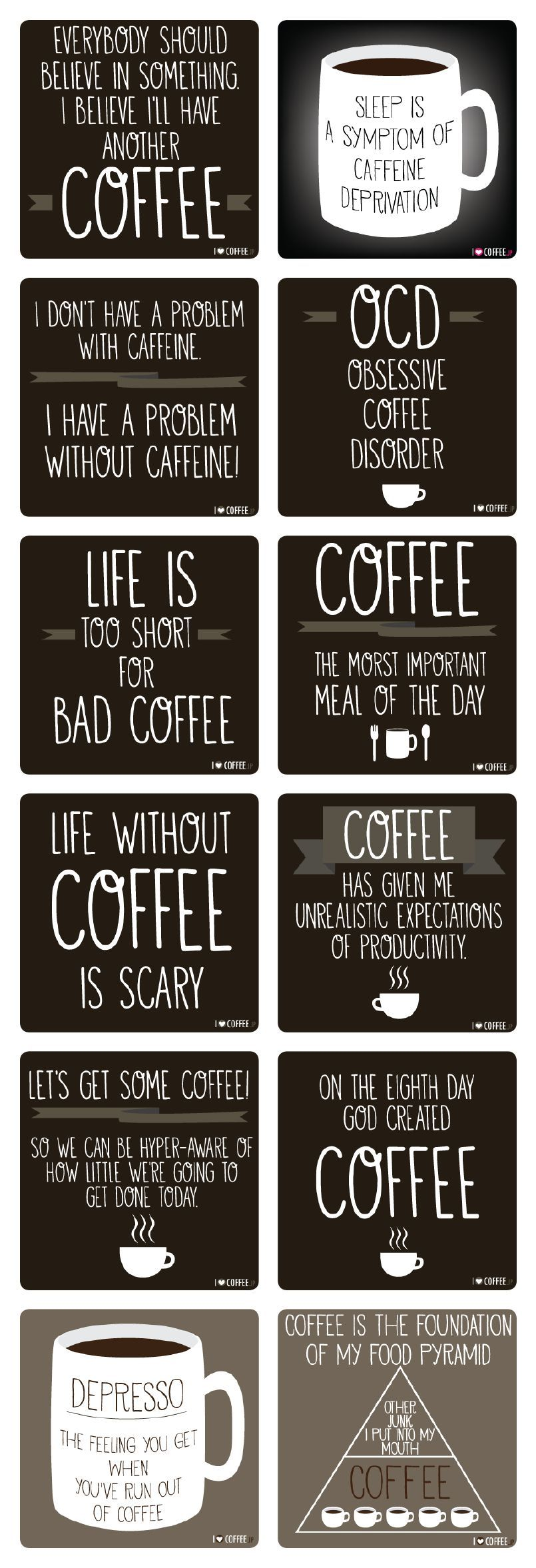 Coffee yay! Tea Nay....No Nien Nyet Coffee quotes