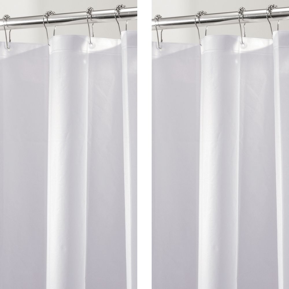 Mdesign Long Peva Shower Curtain Liner For Bath 72 X 84 Arctic