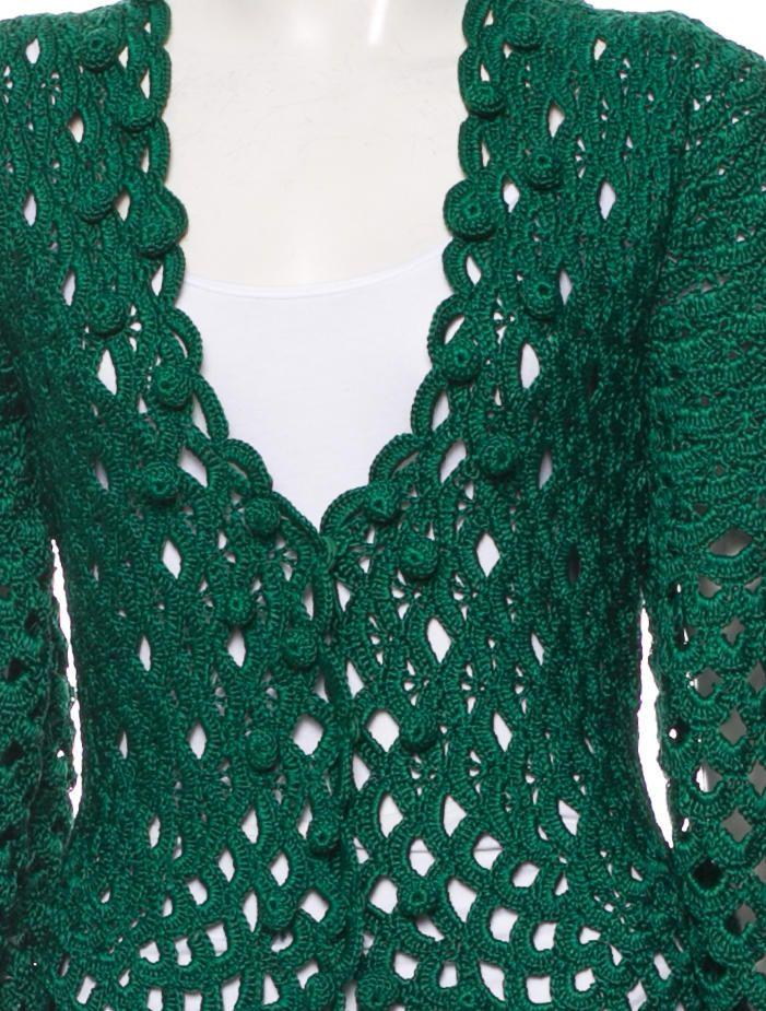 Oscar de la Renta Crochet Silk Cardigan w/ Tags - Tops - OSC28814 | The RealReal