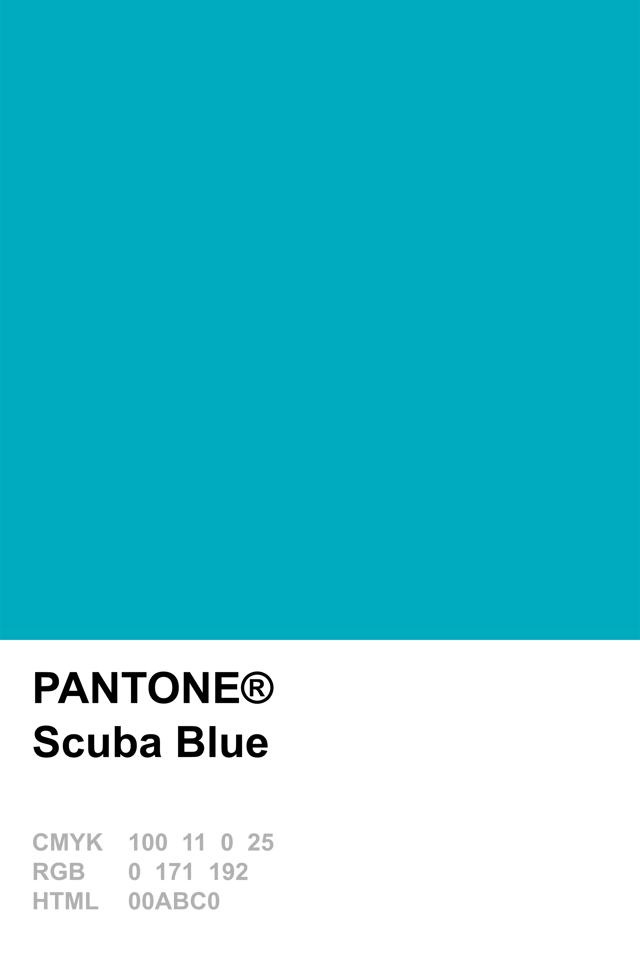 Pantone 2015 Scuba Blue