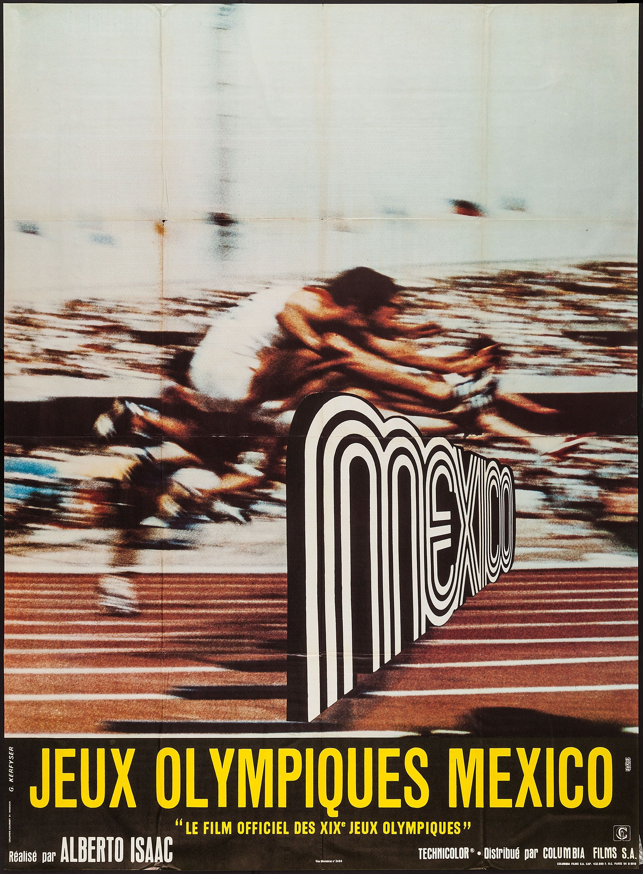 The Olympics in Mexico (Alberto Isaac, 1969) French grande ...
