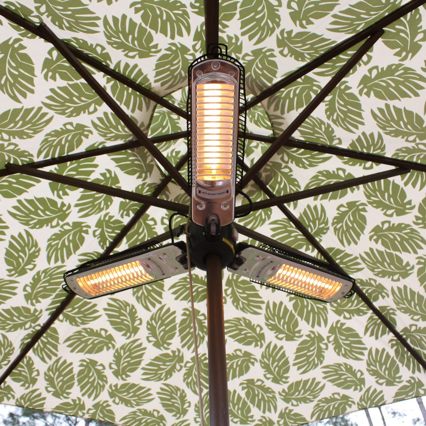 Fire sense umbrella halogen patio heater themine