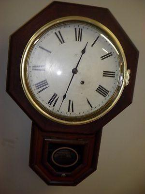 Vintage Seth Thomas School house Wall ClockMovement is marked