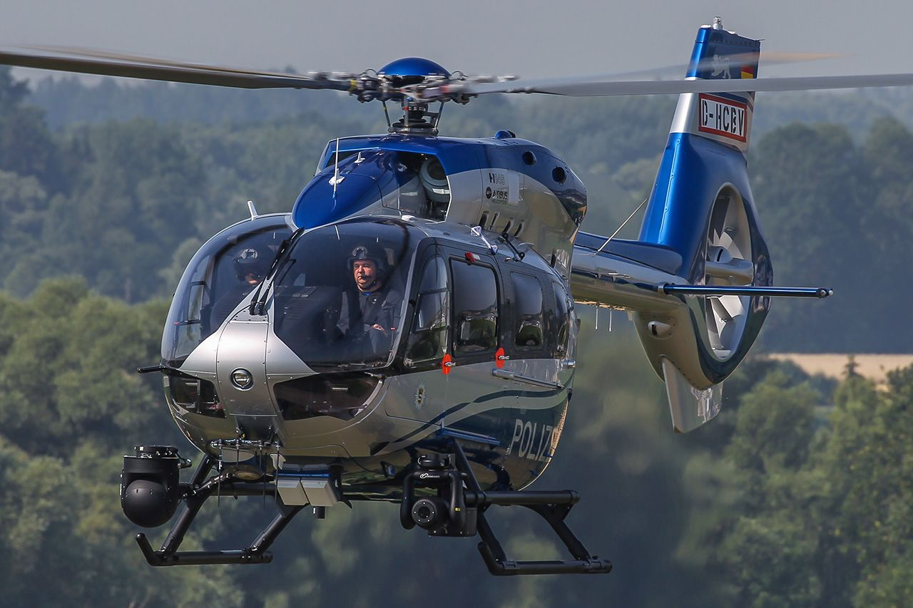Elicottero H145 : German police h helicopter photo airbus helicopters