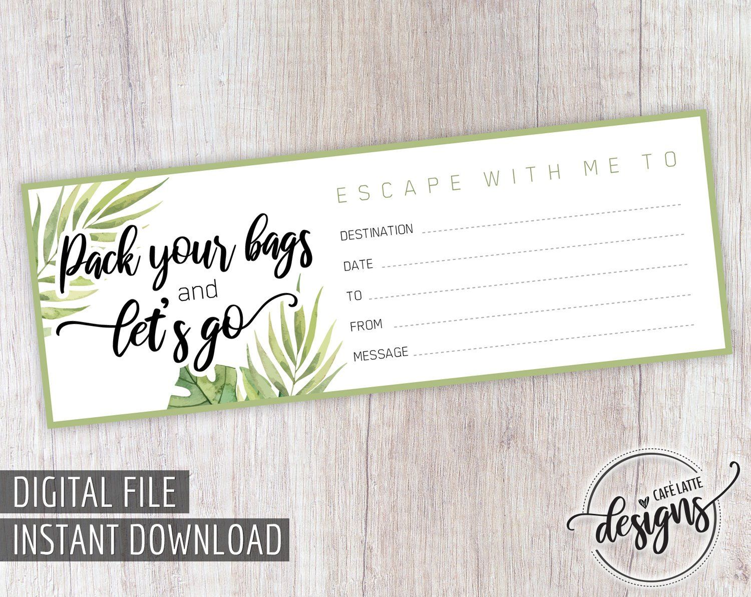 Travel Gift Certificate Printable Gift Of Travel Certificate