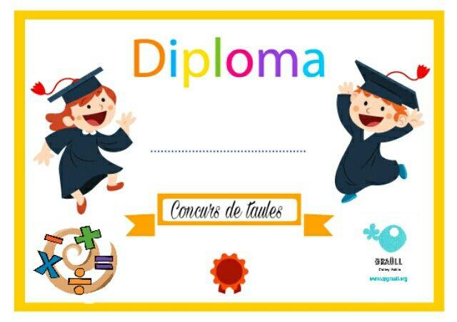 Diploma taules de multiplicar