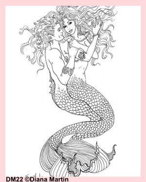 Mermaid Colouring Pages - merman, ocean, sea, little mermaid ...   375x300