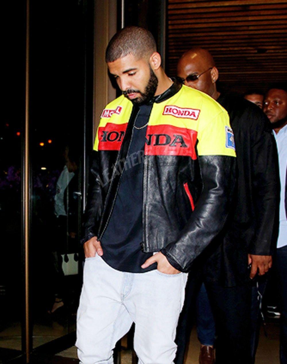 Drake Graham Honda Biker Jacket Leather Jacket Biker Leather Jackets [ 1269 x 1000 Pixel ]