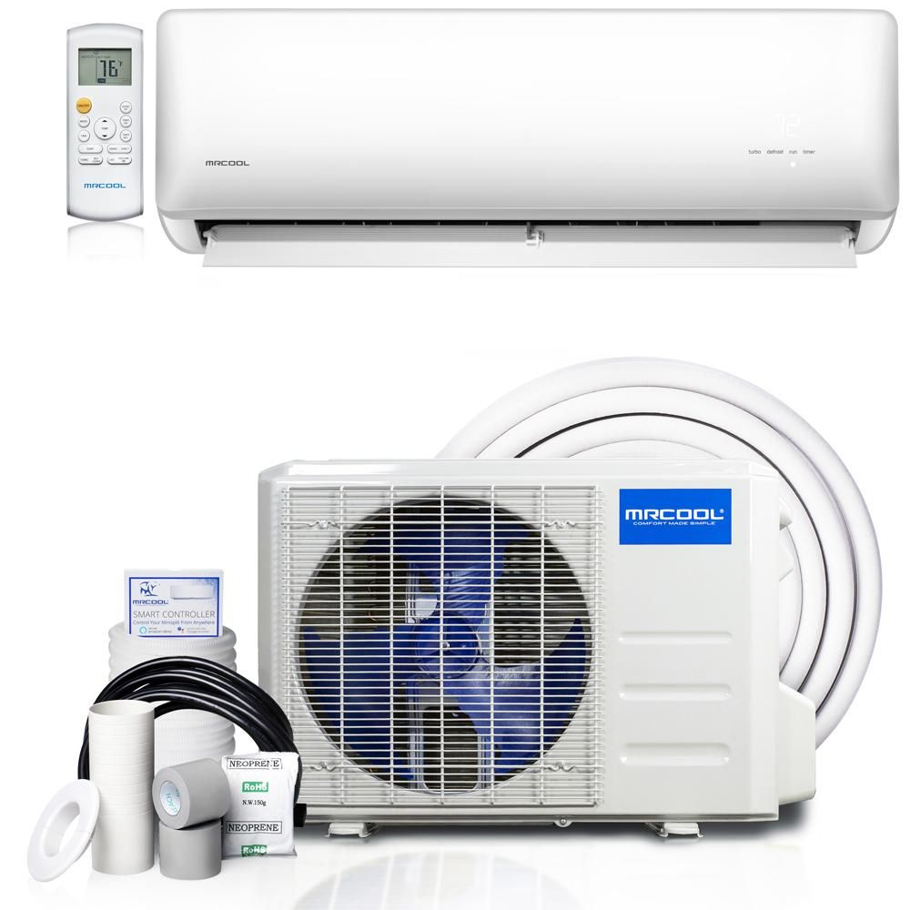 Mrcool Olympus Hyper Heat 12 000 Btu 1 Ton Ductless Mini Split Air Conditioner And Heat Pump 230v 60hz O Hh 12 Hp 230e The Home Depot In 2020 Ductless Mini Split Heat Pump Conditioner