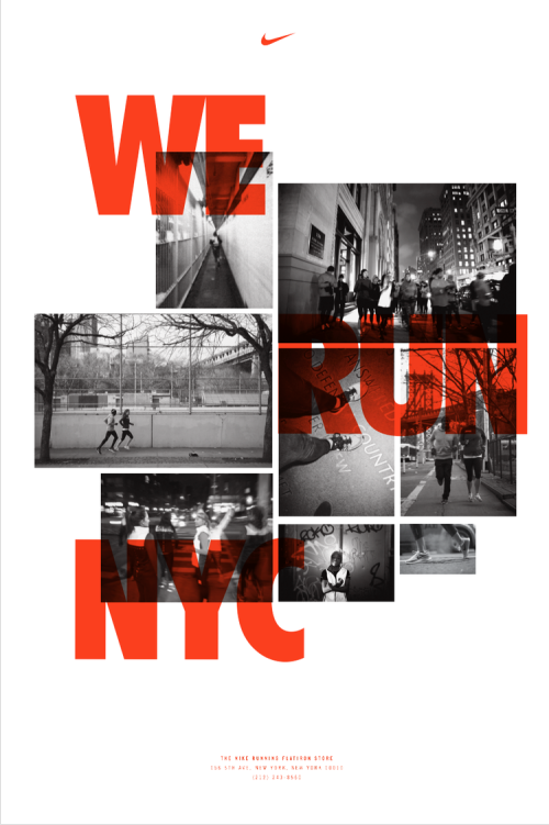 Wheatpaste posters at Nike Flatiron NYC | New York City