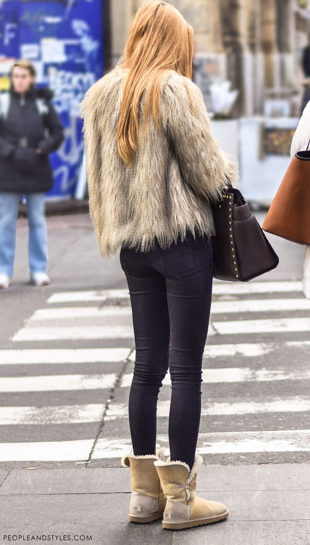 Faux fur coats daily street fall fashion in Zagreb. Bundice od umjetnog krzna, ulična