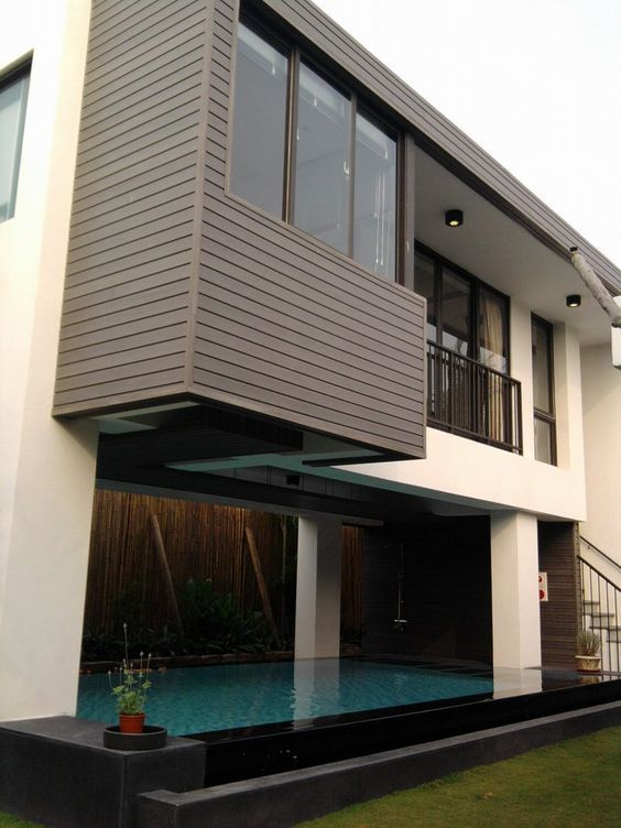 Anti Uv Waterproof Wpc Exterior Decorative Wall Panel
