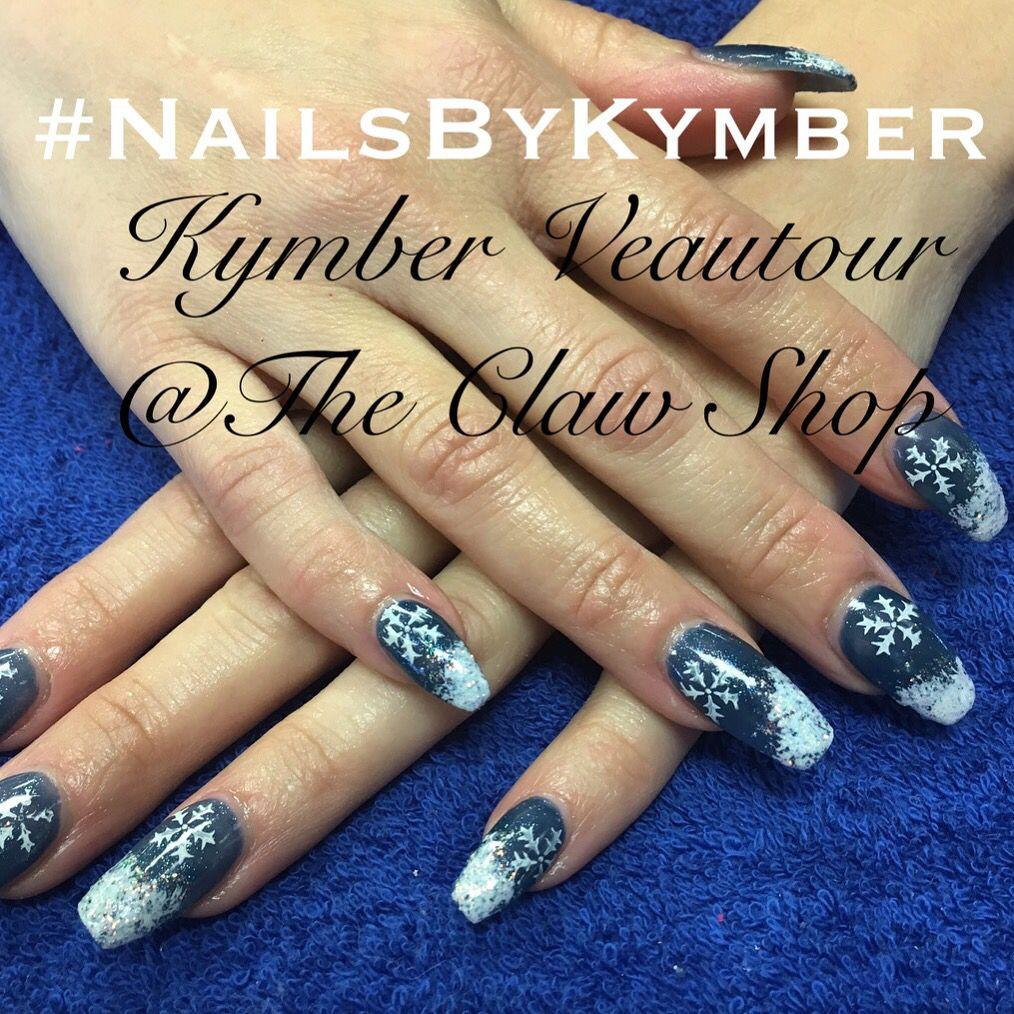 Cute winter nails using Artistic Nail Design acrylic and gel polish ...