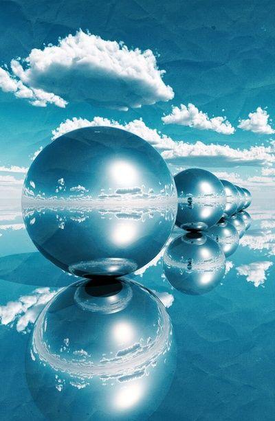 blue spheres in line paper Art Print Digital Art Pinterest - print line paper