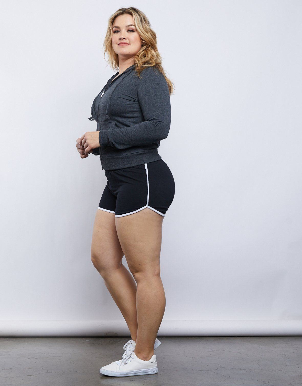 Photo of Plus Size Striped Sporty Shorts