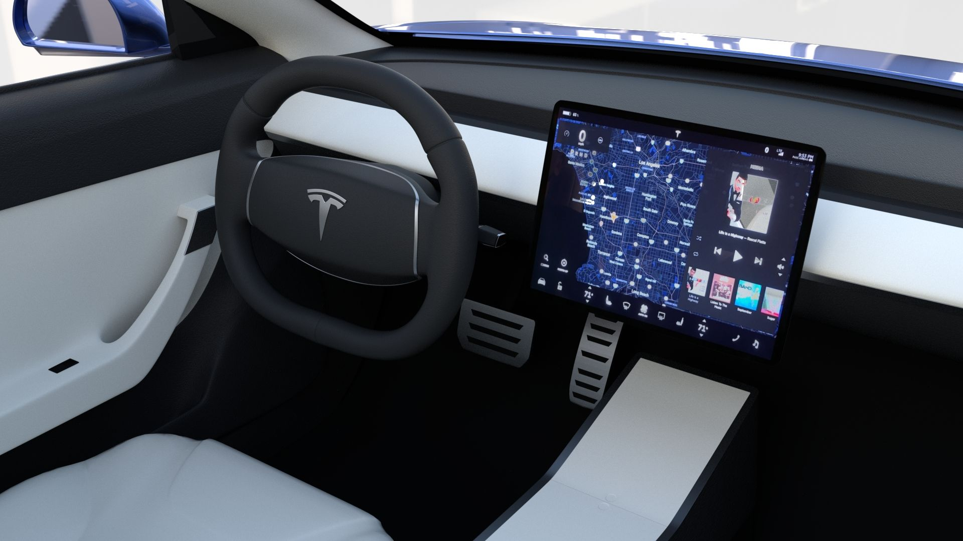 Tesla Roadster Model S X 3 With Interiors