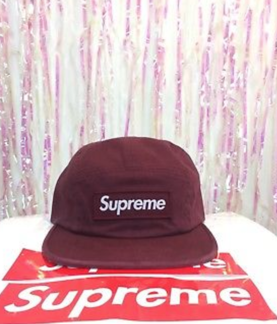 c93d6505ffe25 FOR SALE  Supreme SS18 Military Camp Cap 5 Panel Burgundy Hat