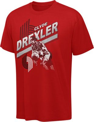 reputable site c3875 0fe03 Clyde Drexler Hardwood Classic Collection Retro Player Tee ...