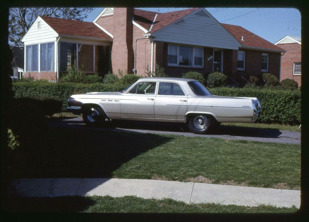 Vintage 35mm Photo Slide 1963 Old Silver Car In Driveway Ebay