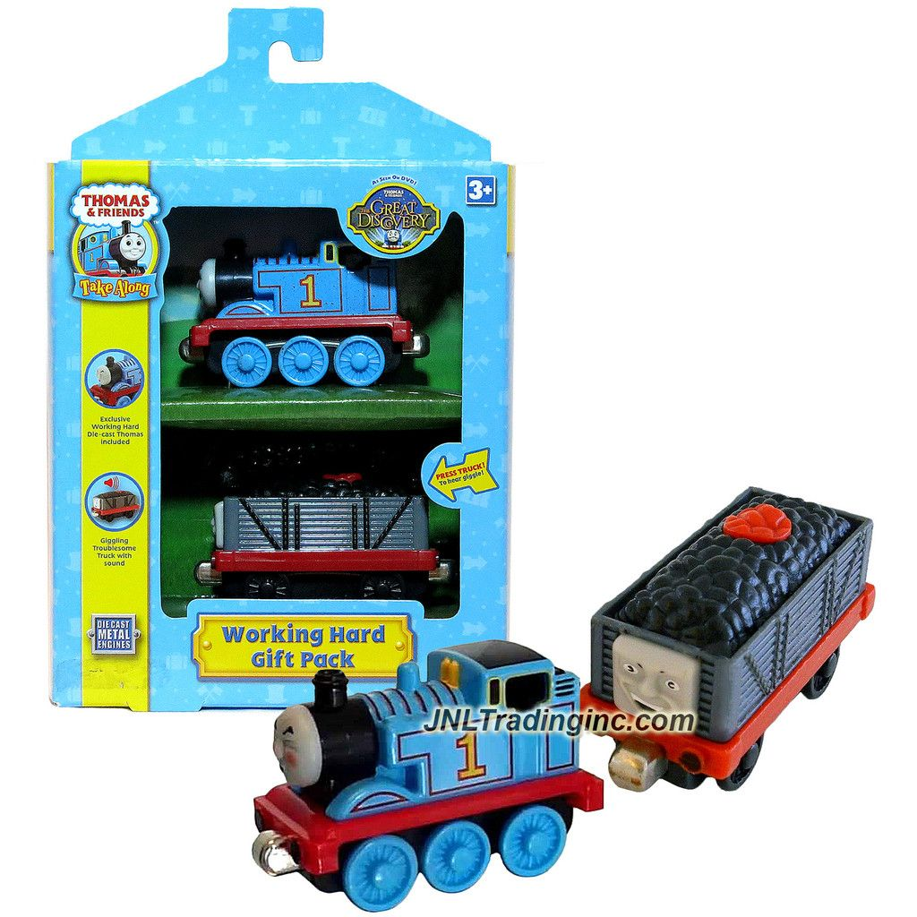Thomas the train full size sheets - Learning Curve Thomas And Friends Take Along Series Die Cast Metal Train Set Working Hard Gift Pack With Exclusive Thomas And Troublesome Truck