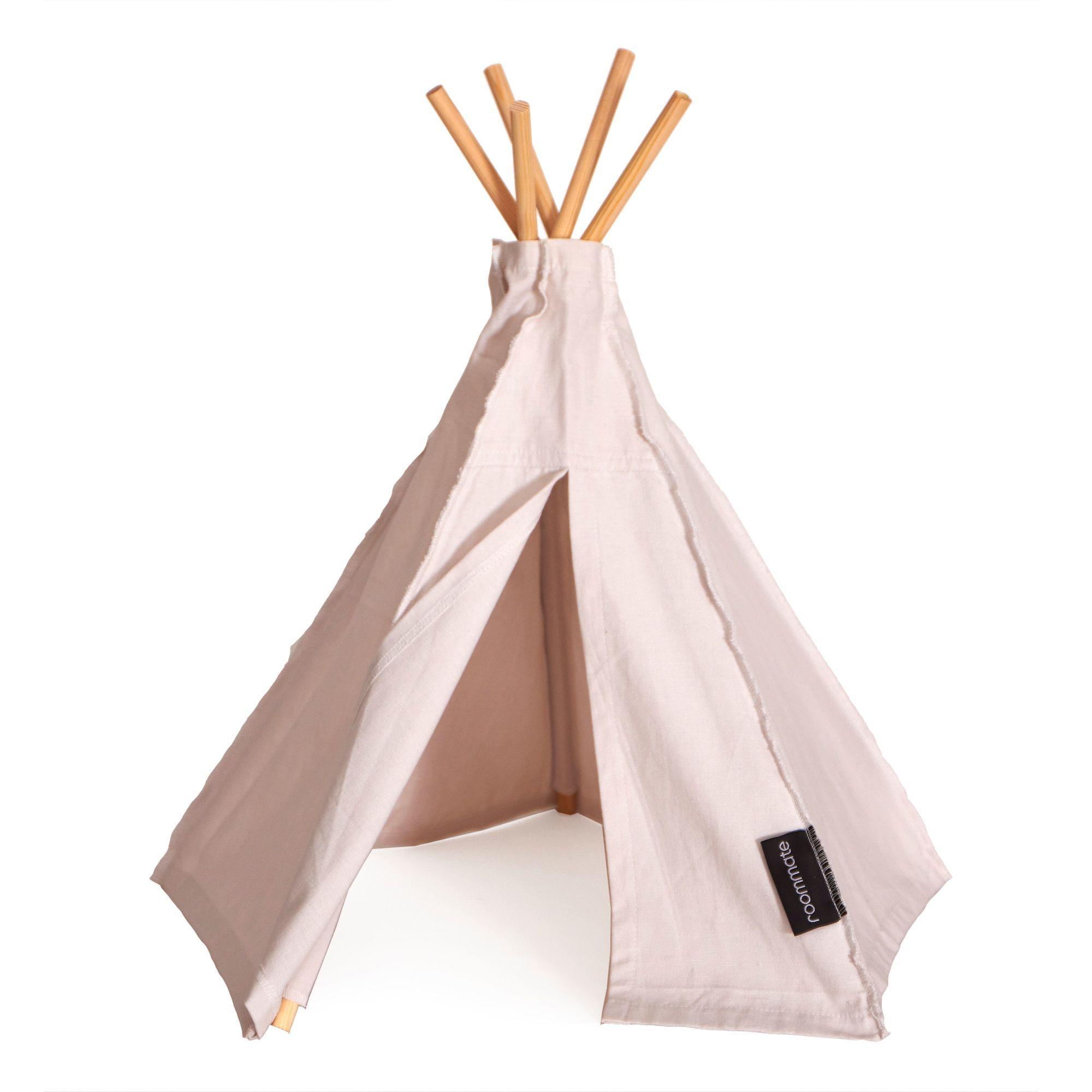 roommate lektält mini hippie tipi, ljusrosa är ett fint minitält som