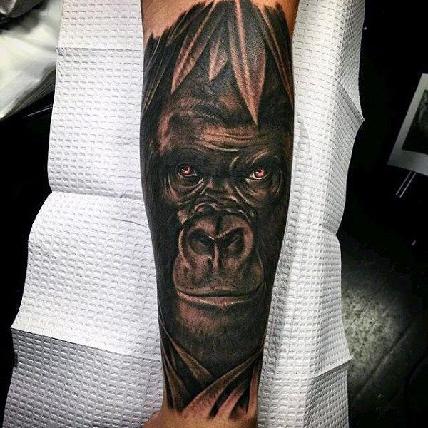 43df5bb1a Discover the largest living primate among the forest with these top 100  best gorilla tattoo designs for men. Knuckle walk your way to manly great  ape ideas.