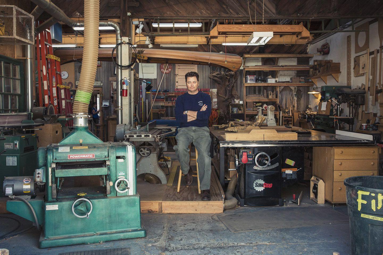 An Exclusive Look Inside Nick Offerman S Woodshop Wood Shop Nick Offerman Woodworking Workshop Layout