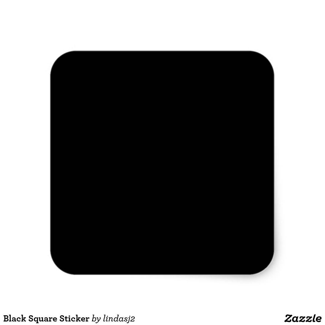Black Square Sticker Zazzle Com In 2021 Black And White Instagram Black Square Neon Wall Art