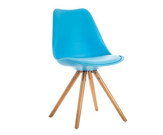 Silla de madera y polipropileno Tow - azul