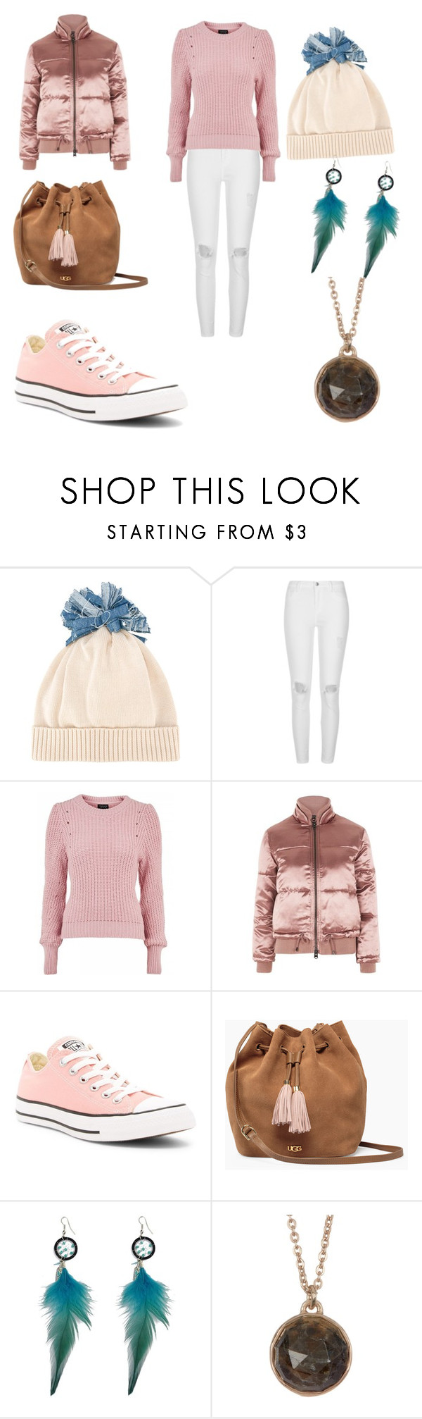 """""""Untitled #1121"""" by shannongarner ❤ liked on Polyvore featuring Federica Moretti, River Island, Topshop, Converse, UGG and Melinda Maria"""