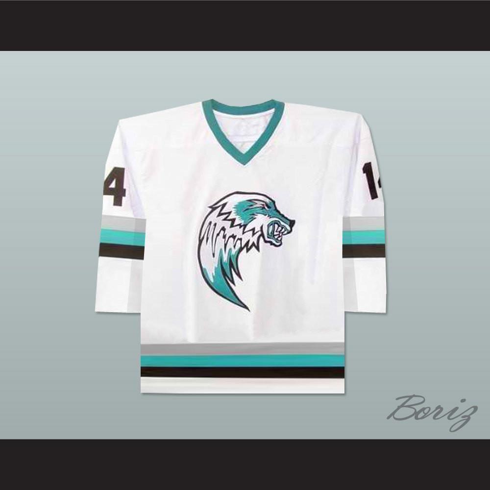 The Lansing Ice Wolves Derek Thompson 14 Minor League Hockey Jersey Colors New Stitch Sewn Hockey Jersey Long Sleeve Tshirt Men Jersey