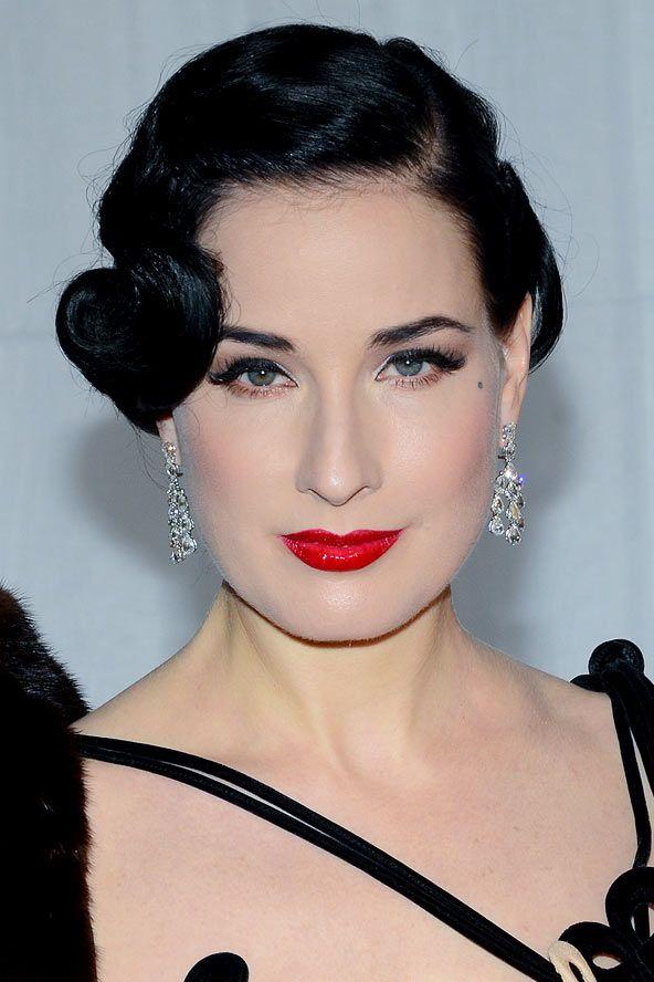 Dita Von Teese's 20s coiffed hairstyle - celebrity hair ...