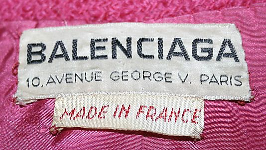 Vintage Clothing Label Balenciaga 1959 60 With Made In France Tag Makes It Even More Special Clothing Labels Fabric Labels Fashion Labels