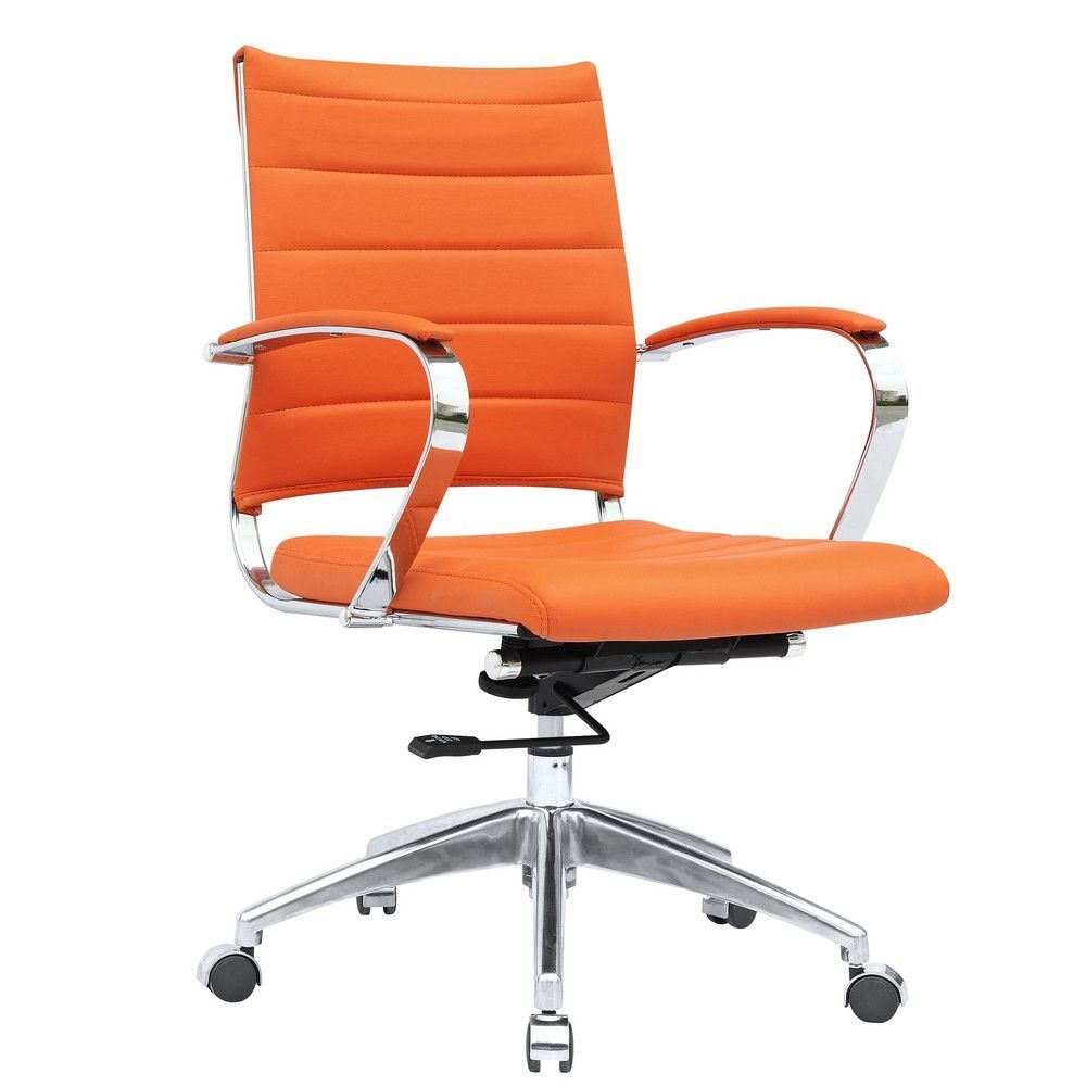 Sopada conference office chair mid back orange leather products